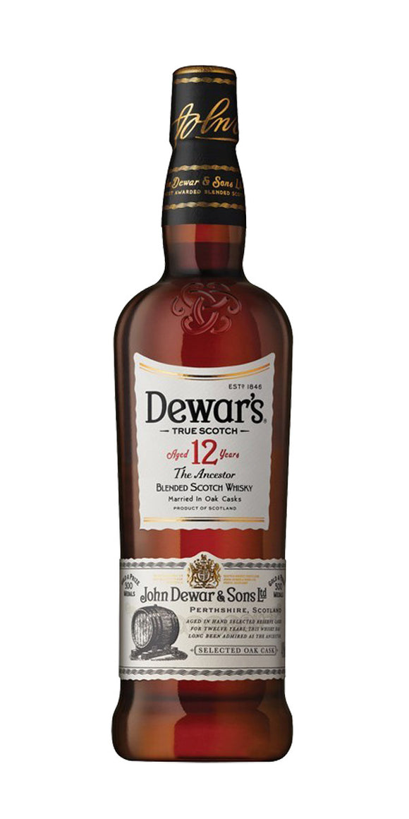 Dewars 12 Year Old Blended Scottish Whisky