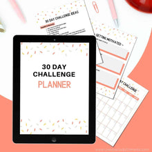 Load image into Gallery viewer, 30 day challenge planner