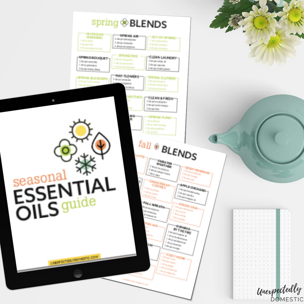 Essential Oil Blends Seasonal Recipe Book