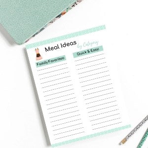 Meal Idea Template Printables