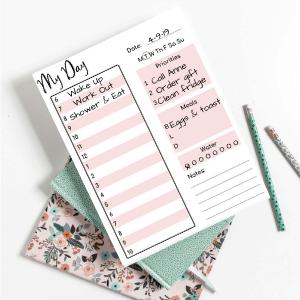 Organize My Day Planner Printable