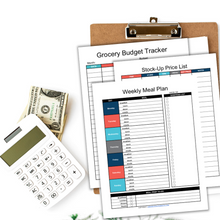 Load image into Gallery viewer, Grocery Budget Planner