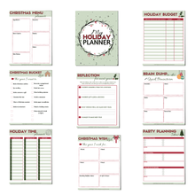 Load image into Gallery viewer, Eliminate holiday stress and anxiety by planning ahead this year! Get organized, and manage your time, budget, gift list, AND priorities.