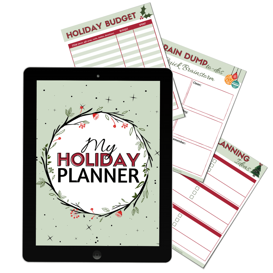 Eliminate holiday stress and anxiety by planning ahead this year! Get organized, and manage your time, budget, gift list, AND priorities.