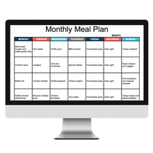 Load image into Gallery viewer, Meal Planning Spreadsheet