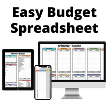 Load image into Gallery viewer, Easy Budget Spreadsheet