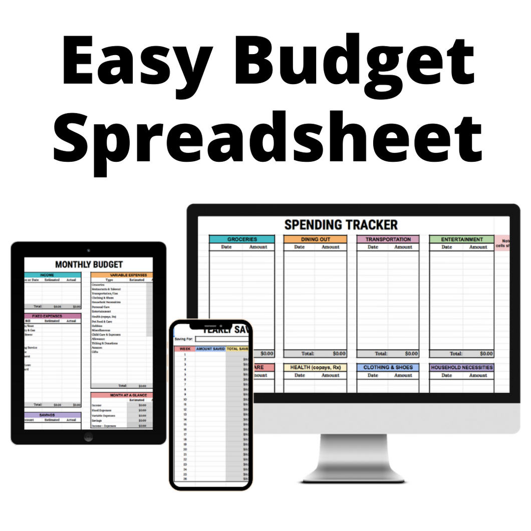 Easy Budget Spreadsheet