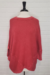 Ribbed Cape Antique Red