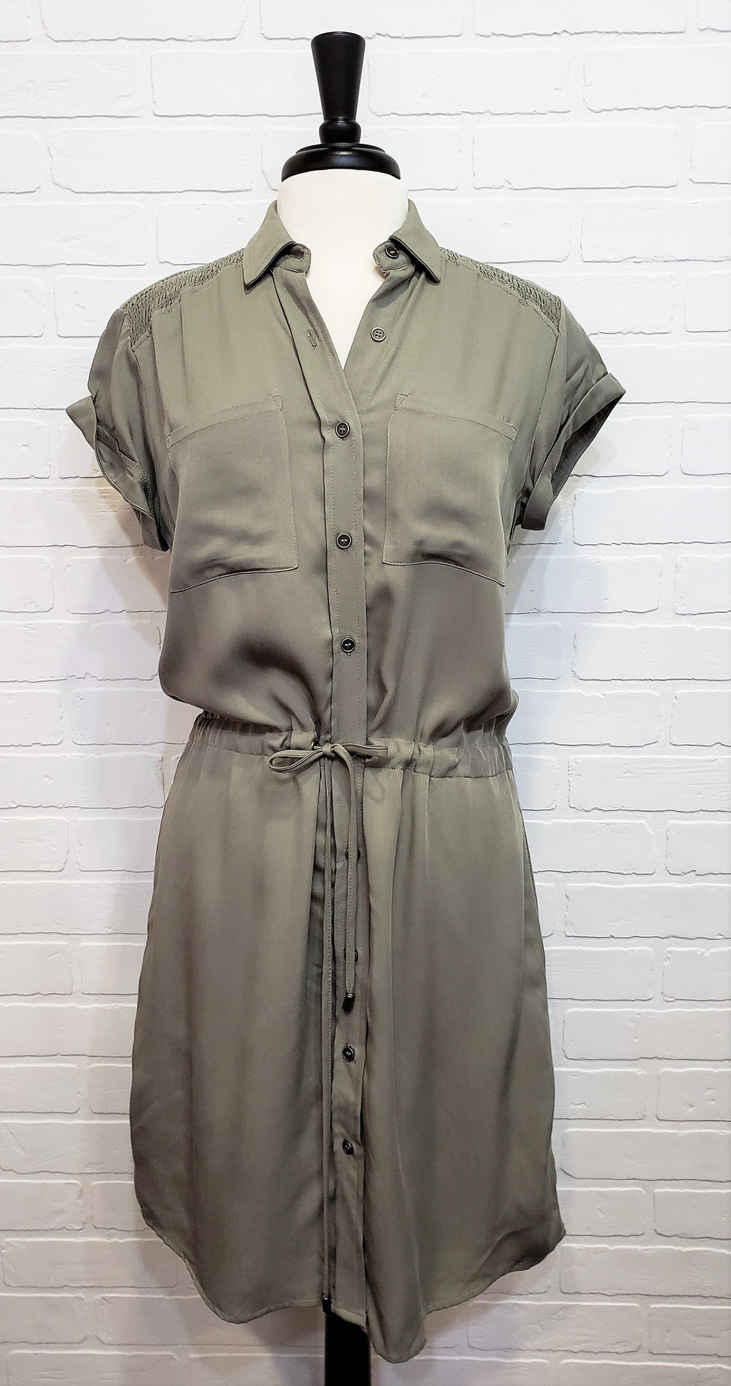 Aloe Button Up Collared Dress