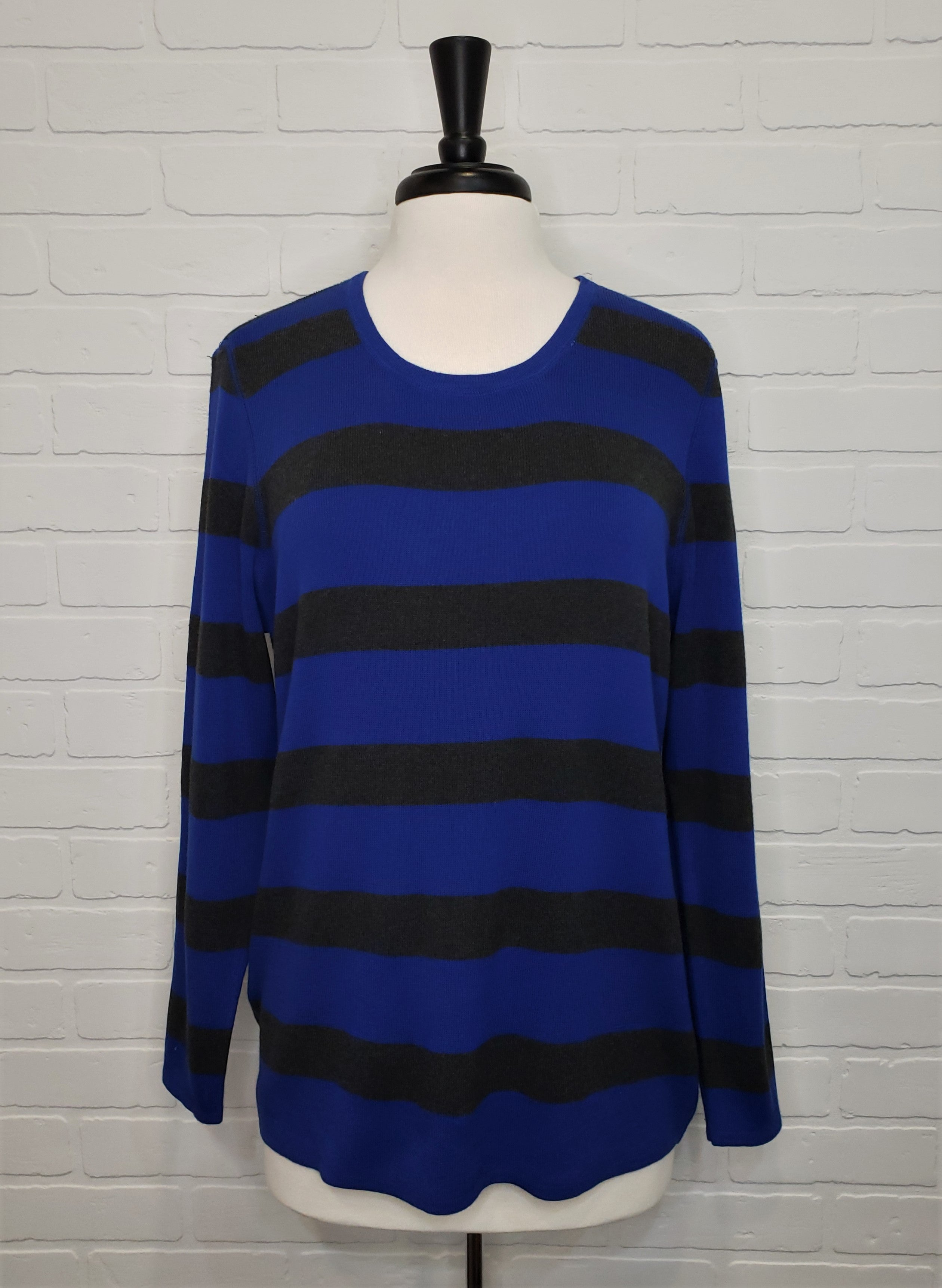 Striped Scoop Neck Sweater