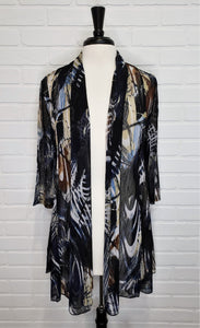 Printed Cardigan Brown