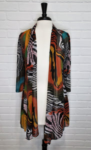 Printed Cardigan Orange