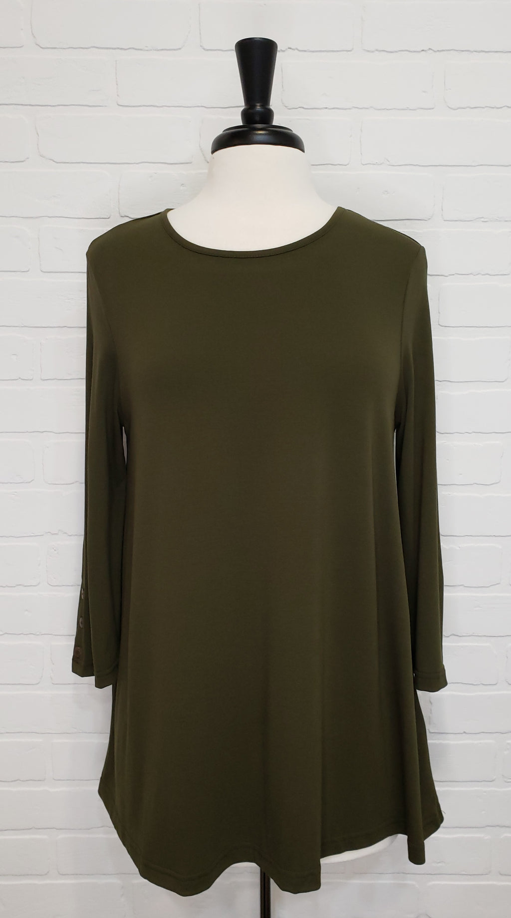 Sage Button Sleeve Tunic