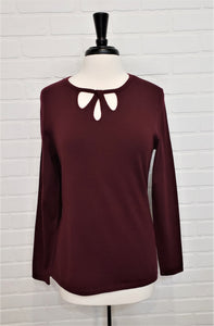 Cutout Neck Long Sleeve