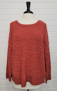 Boucle Scoop Neck Sweater