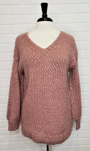 Nubby V-Neck Sweater
