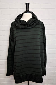 Hunter Striped Cowl Sweater