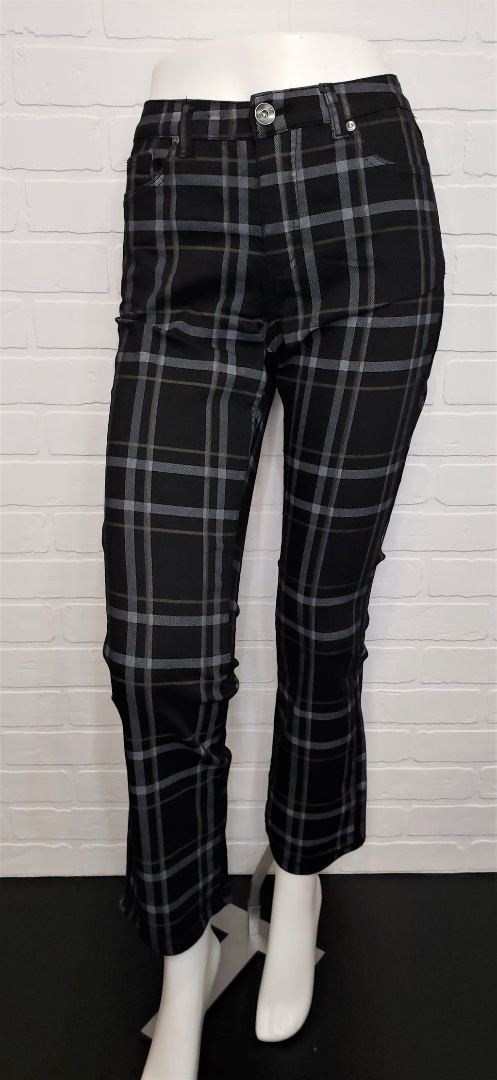 Audrey Straight Ankle Plaid