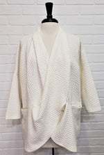 Cream Weave Cowl Neck Sweater