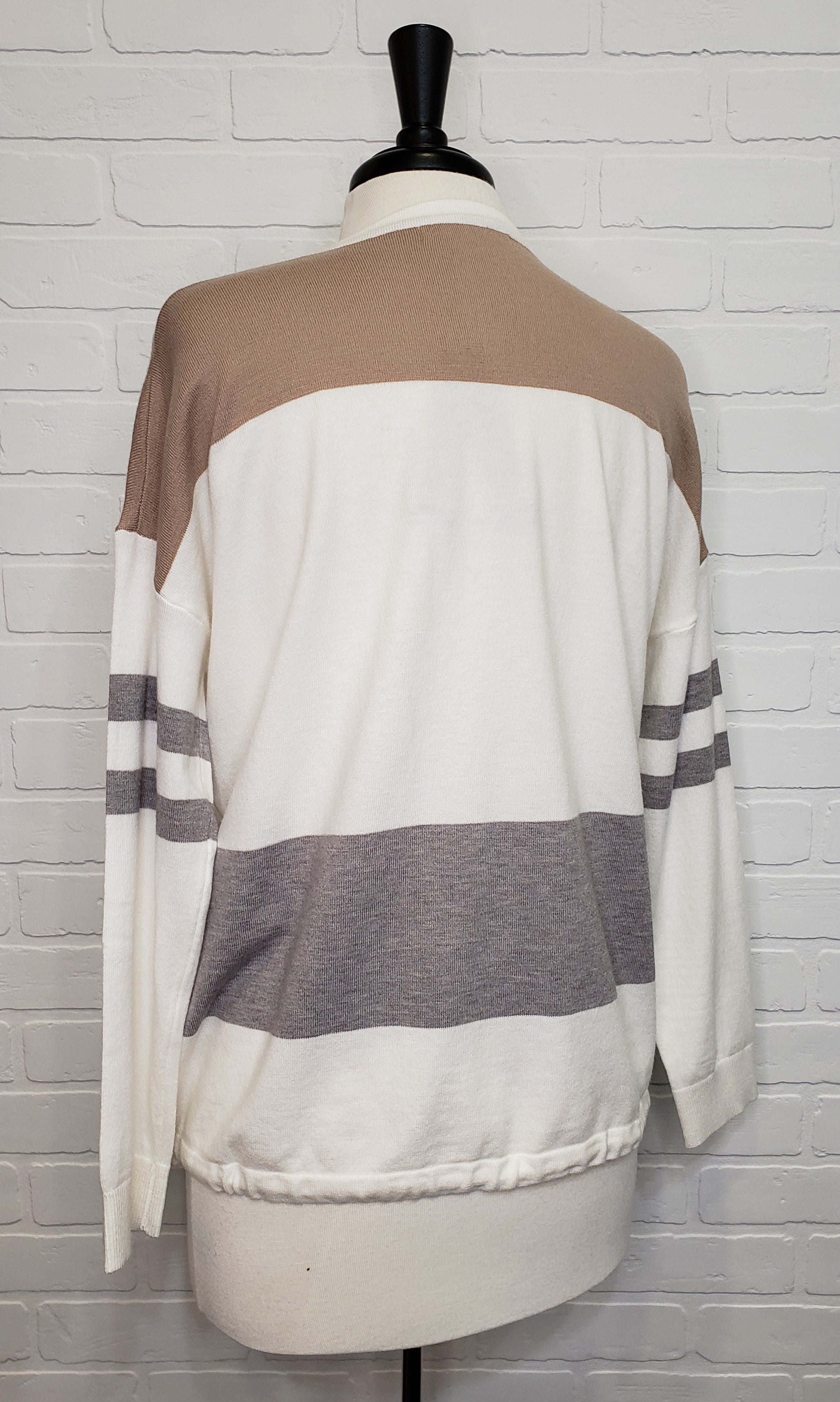 Stiped Drawstring Long Sleeve