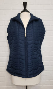 Quilted Vest Navy Blue