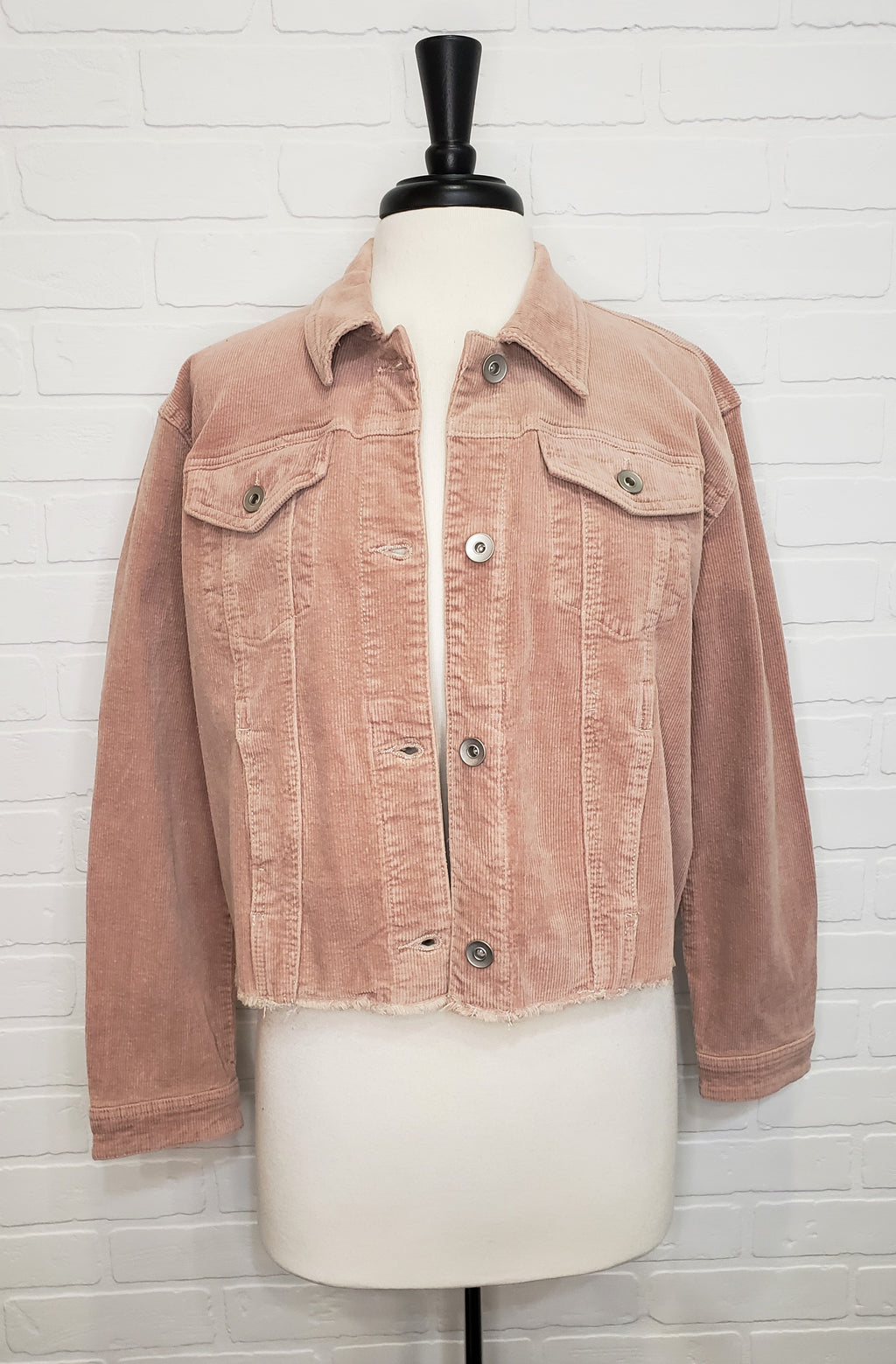 Boxy Crop Corduroy Jacket