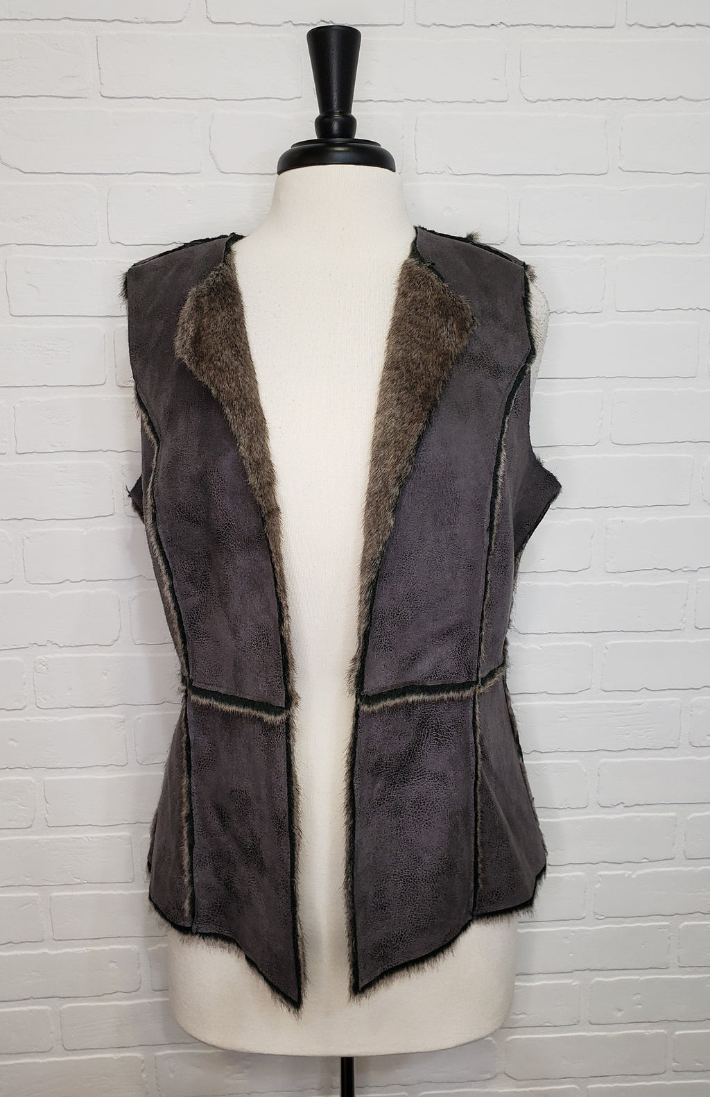 Reversible Vegan Leather Vest