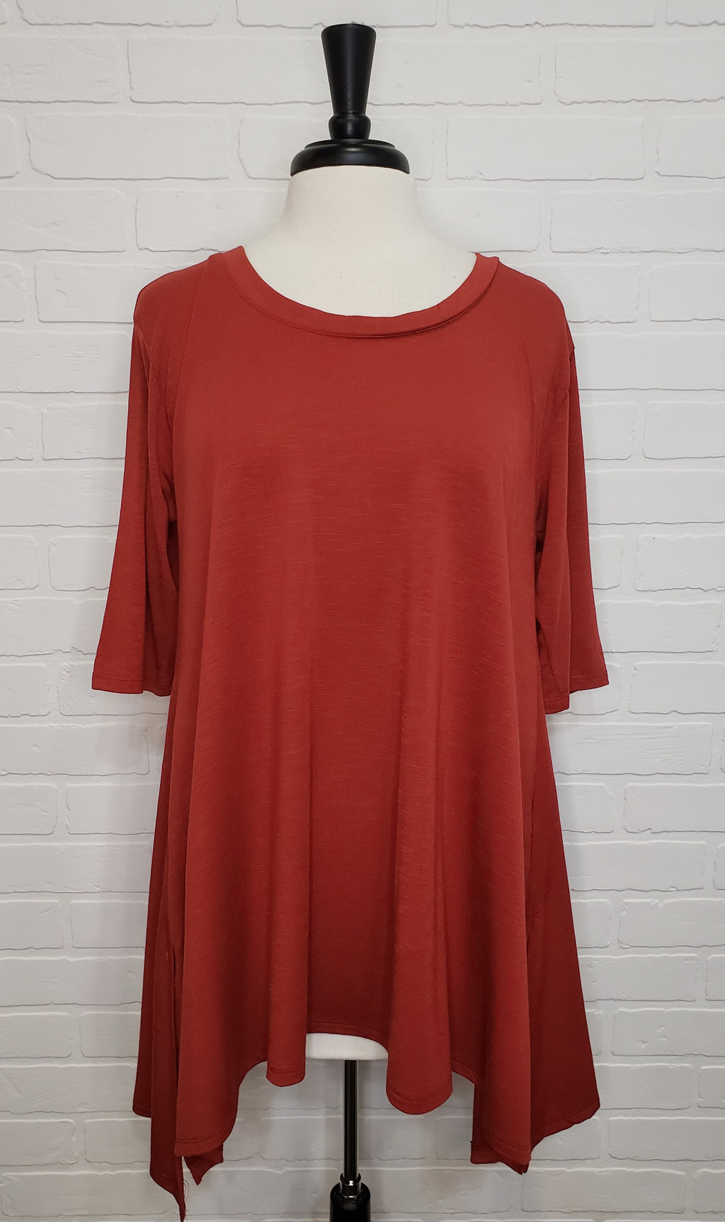Flowy Scoop Neck Tunic