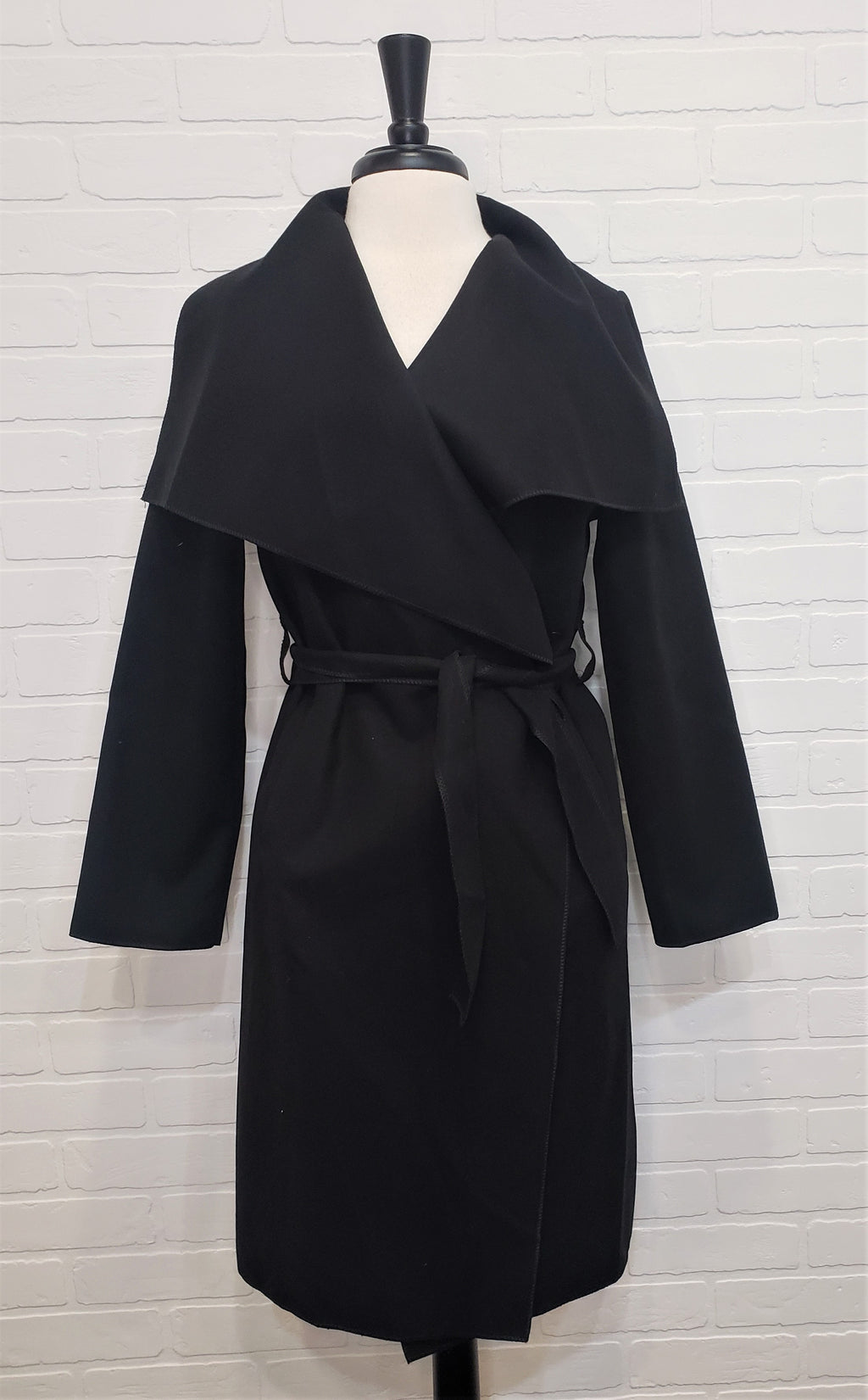 Black Belted Duster Coat