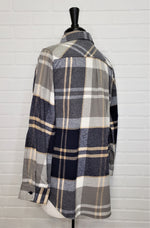 Navy One Pocket Flannel