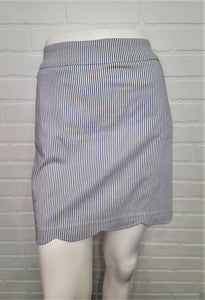 Scalloped Skort Striped Lurex