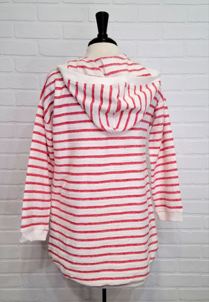 Cotton Striped Hoodie