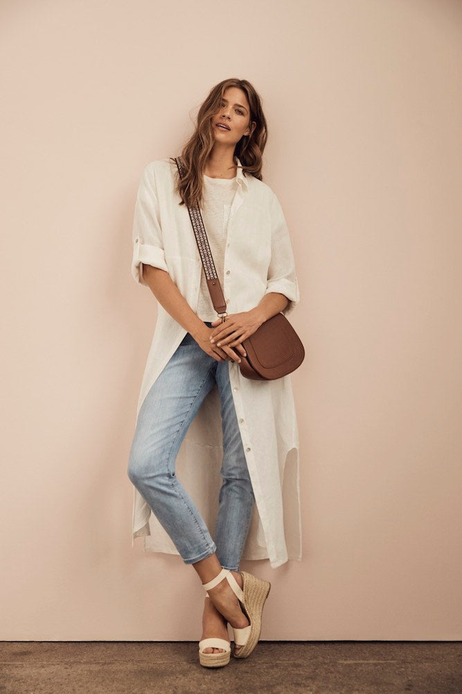 Button Up Linen Dress