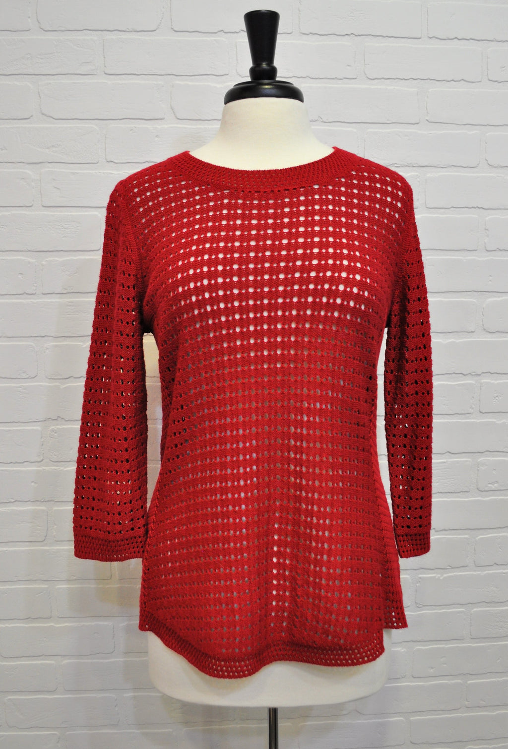 Red Holey Sweater