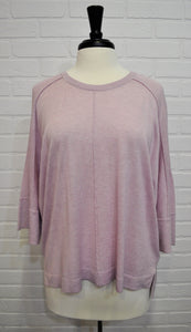 Lilac Dolman Sleeve Sweater