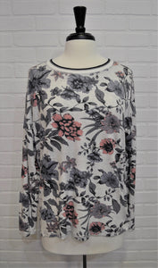 Floral Long Sleeve Crew Neck