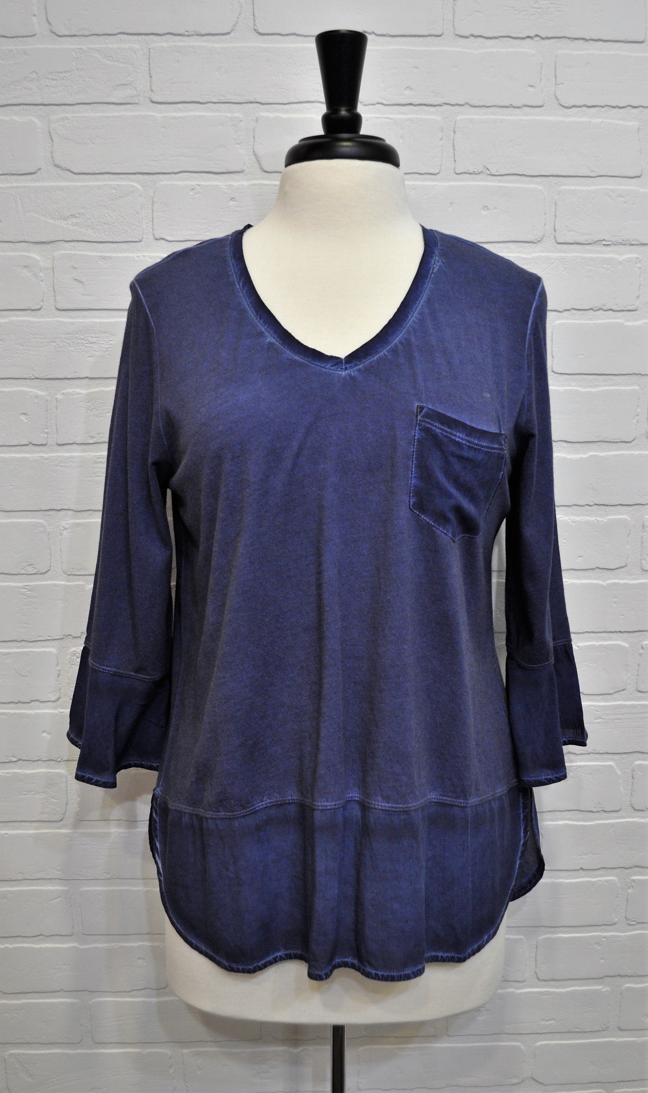 Cold Dye Bell Sleeve Top