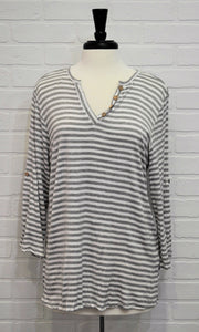 Roll Tab Striped Top