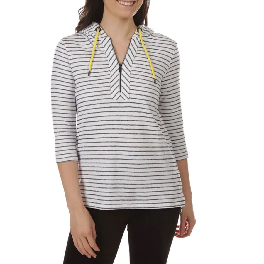 Striped Quarter Zip Hoodie