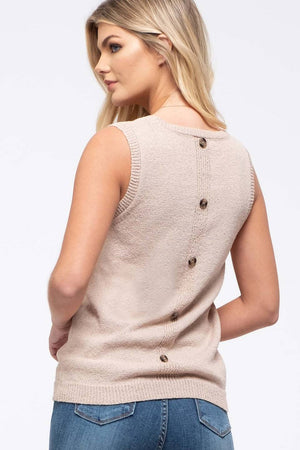 Sleeveless Pocket Knit