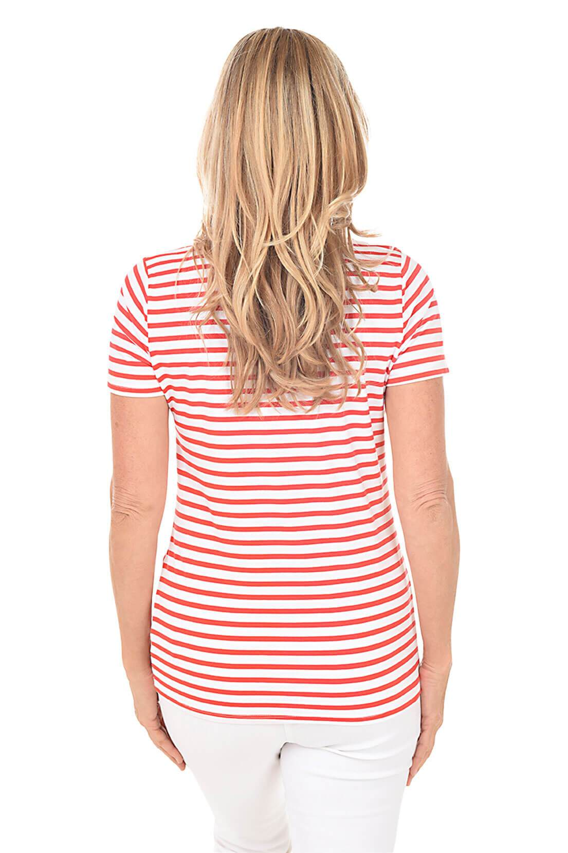 Fiery Red Knot Front V-Neck