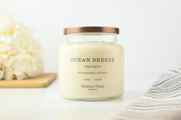 Ocean Breeze 16 oz Soy Candle - Hardeman Candle Co.