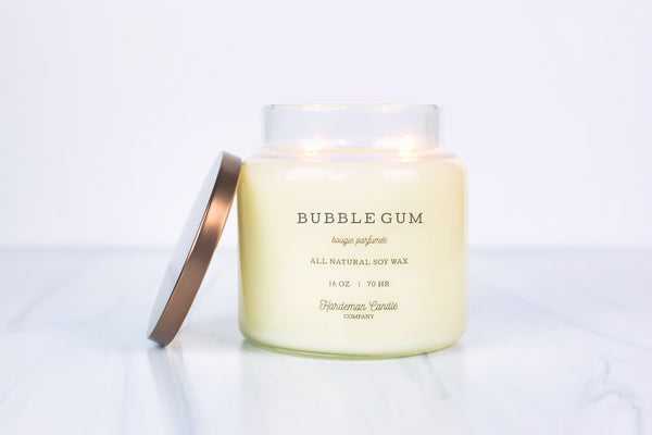 Pink Bubble Gum 16 oz Soy Candle