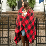 Red Buffalo Check Throw Blanket - Hardeman Candle Co.