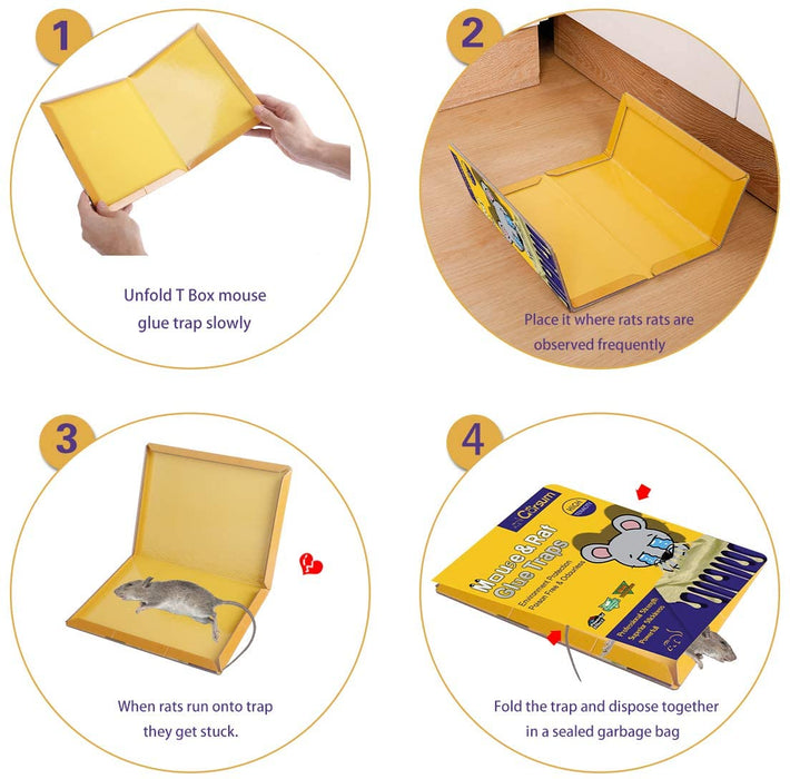 Sticky Mouse Trap/Rat Trap With Peanut Butter Large Capture Area