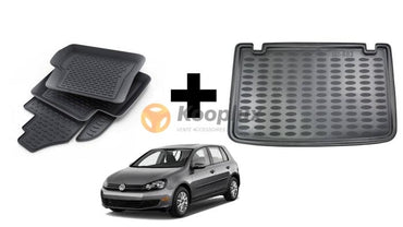 Tapis salon 3D+Tapis coffre 3D Vw golf 6 - KOOPLUX