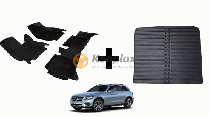 Tapis salon 5D + Tapis coffre 5D Benz GLC