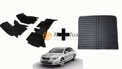 Tapis salon 5D + Tapis coffre 5D skoda superb 2012