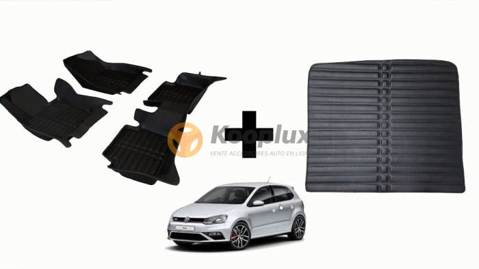 Tapis salon 5D + Tapis coffre 5D Vw polo
