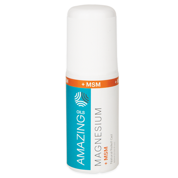 AMAZING OILS Magnesium Gel + MSM Natural Relief Roll-On - 60ml